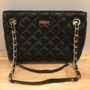 Kate Spade Black Leather Tote Bag